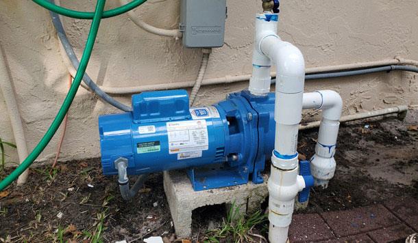 Irrigation pump motor